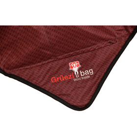 Grüezi-Bag WellhealthBlanket Wool Home Set with Cotton Bag, dark red/rusty orange